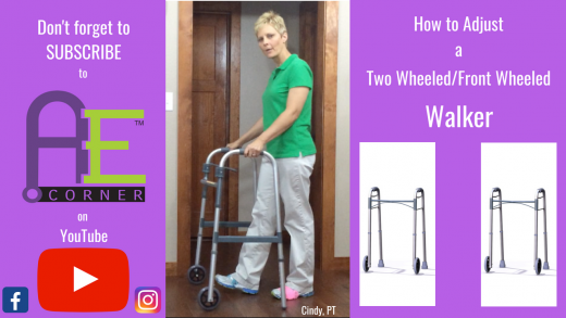 Adjust a 2 Wheel Walker