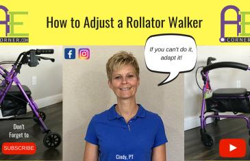 Adjust a Rollator Walker