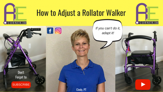 Adjust a Rollator Walker