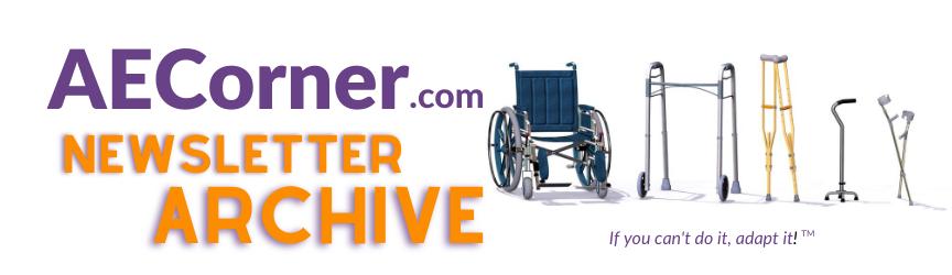 Adaptive Equipment Corner newsletter archive