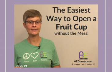 how to open a fruit cup