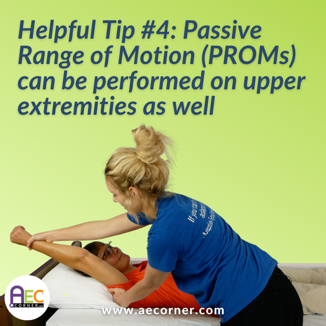 Passive Range of Motion for Arms